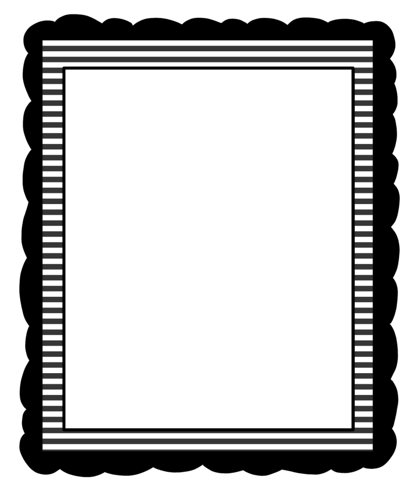 jpg library Clipartix. Borders clipart black and white