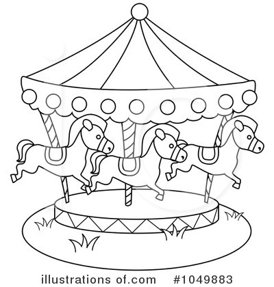 clip art stock Black and white carousel clipart. .