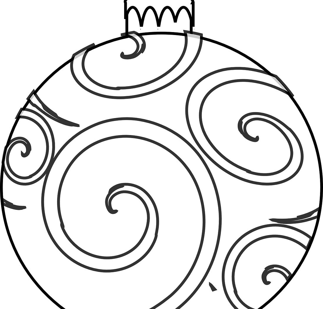 clipart free Vector color ornament. Christmas line drawing at