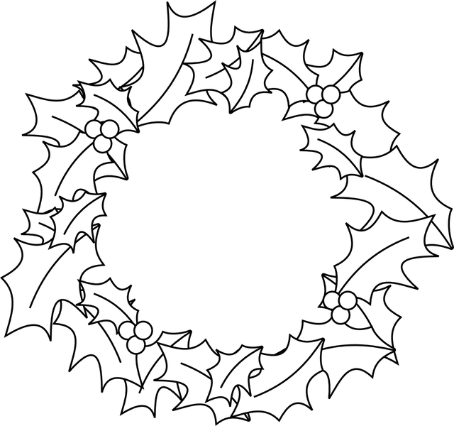 picture freeuse download Black and white christmas wreath clipart. Free download best x