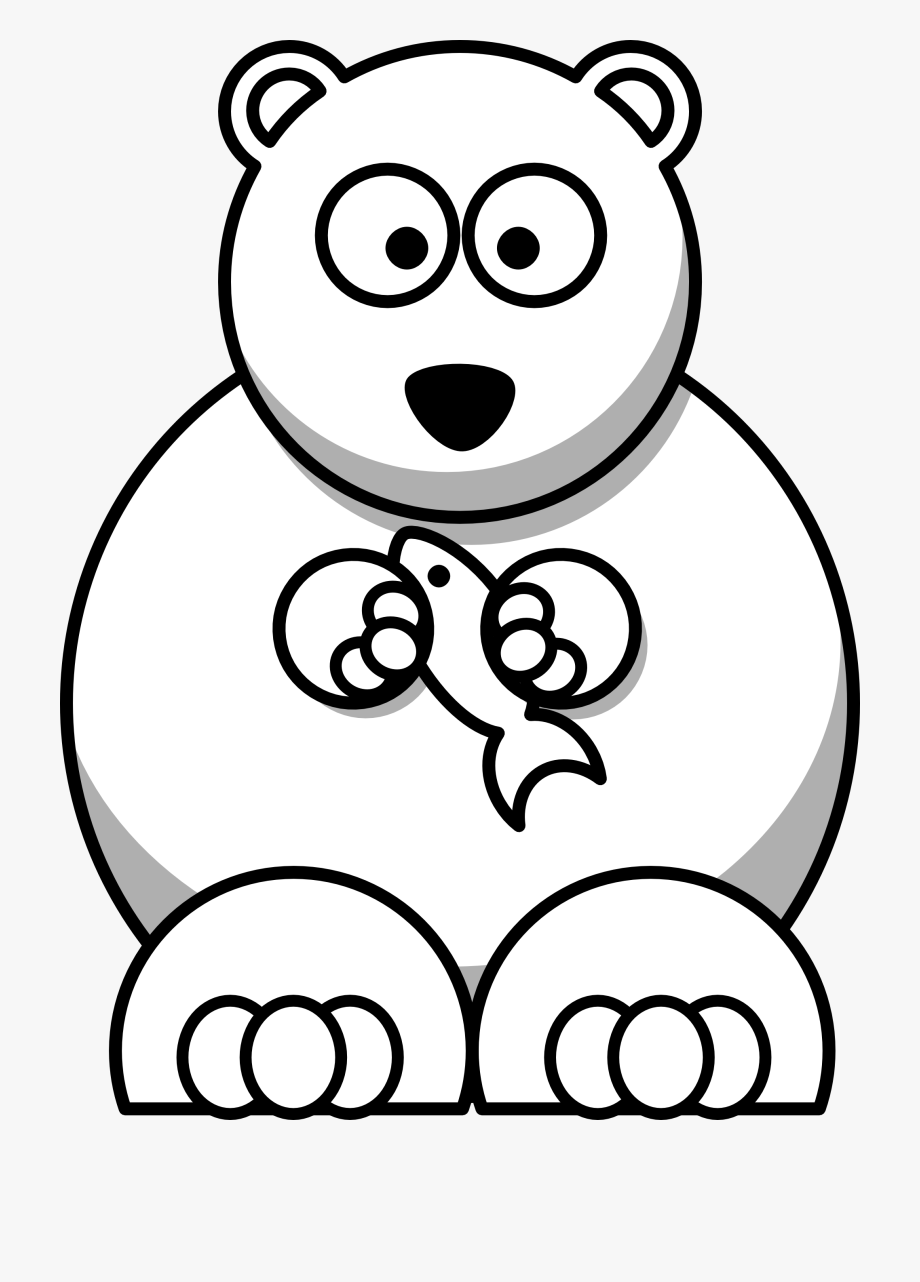 picture royalty free library Teddy . Black and white clipart bear