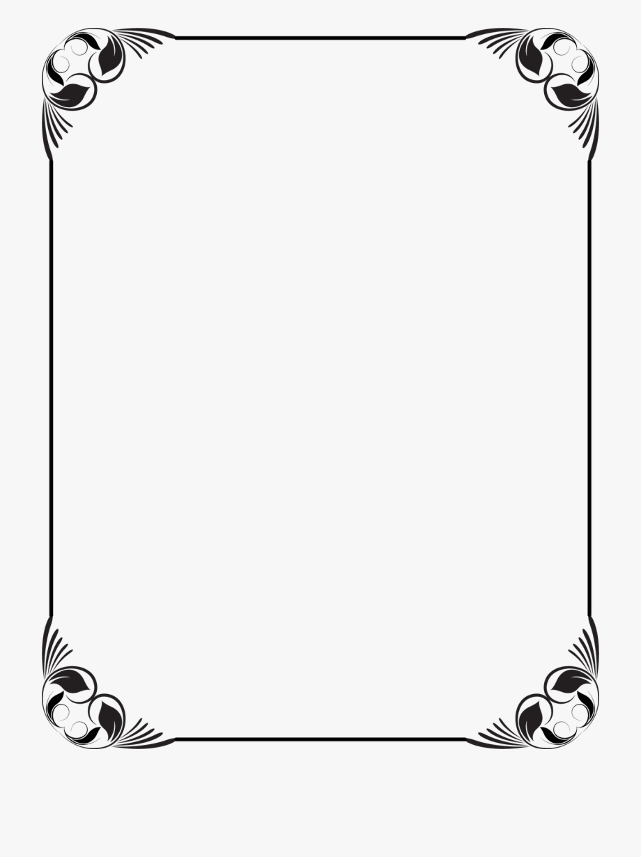 banner freeuse download  frames png for. Black and white clipart borders.