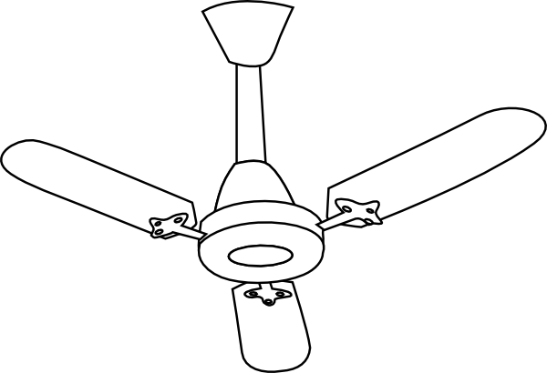 graphic stock Ceiling Fan Outline Clip Art at Clker
