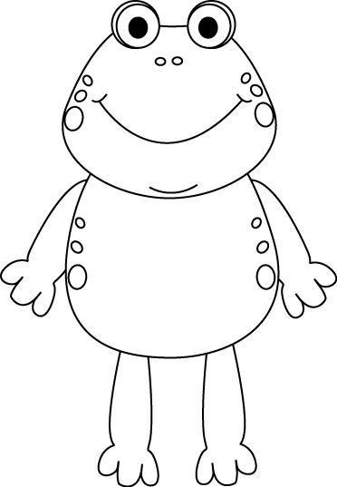 image library Frogs clipart black and white. Frog clip art image
