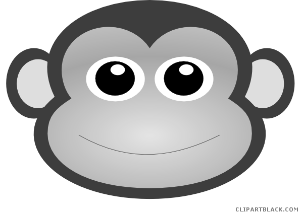 clip art royalty free stock Baby boy clipartblack com. Black and white clipart monkey