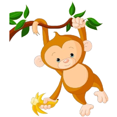 transparent Face free download best. Black and white clipart monkey