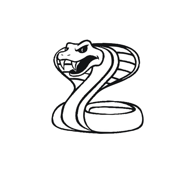png royalty free library King mamba snake clip. Black and white cobra clipart