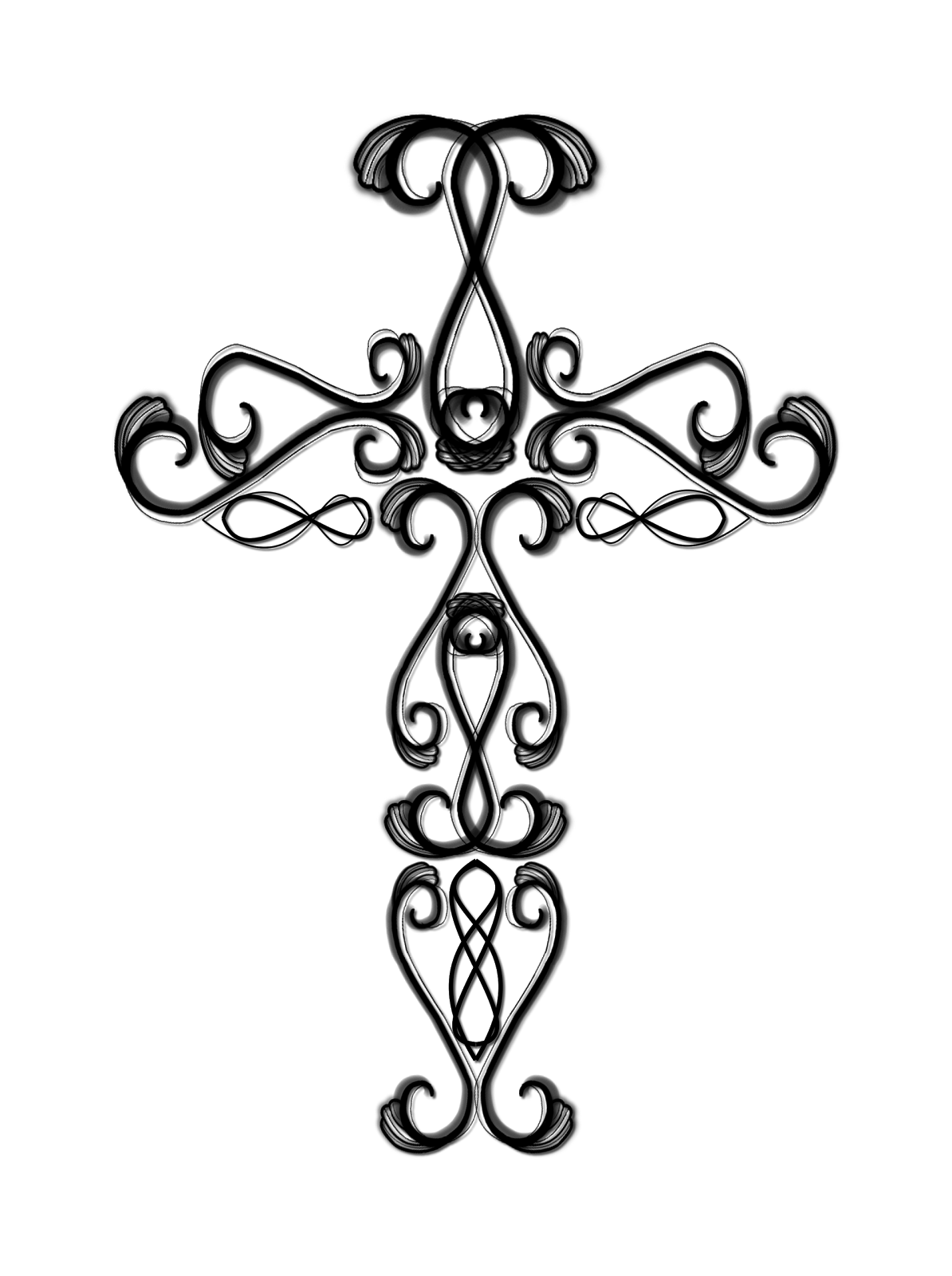 transparent stock Black and white cross clipart. Easter free download best