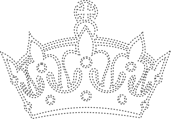 image freeuse library Black and white crown clipart. Keep calm border clip