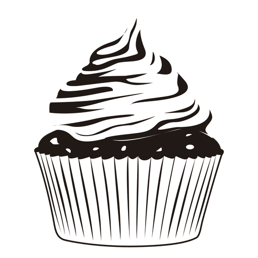 clip freeuse stock Food clip art cup. Cupcake black and white clipart