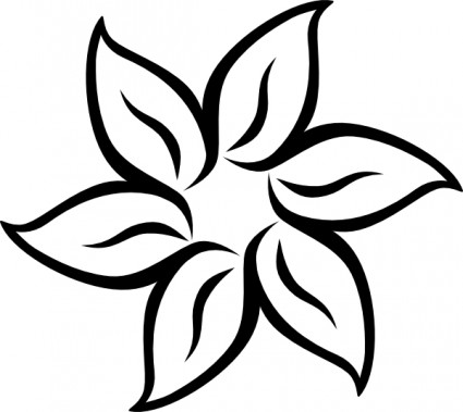 jpg black and white download Black and white flowers clipart. Free flower images download