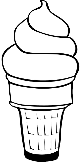 png library Black and white ice cream cone clipart. Free image on pixabay