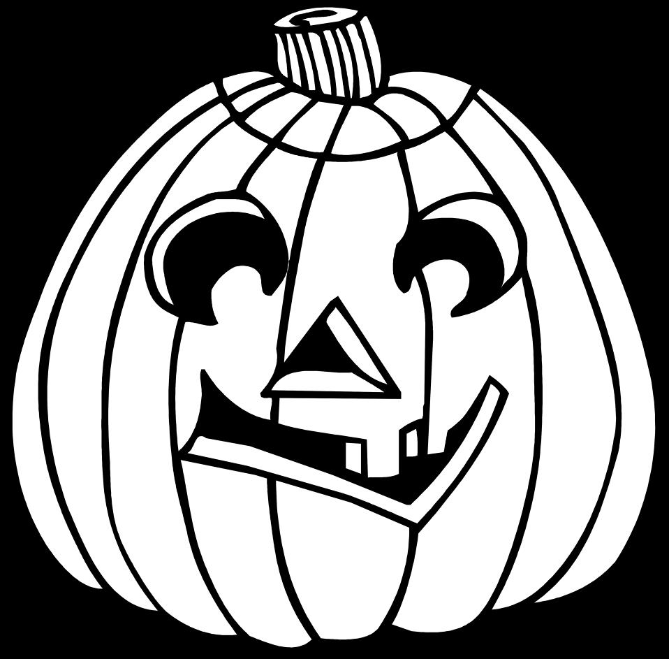 clip transparent library black and white jackolantern clipart #58730912