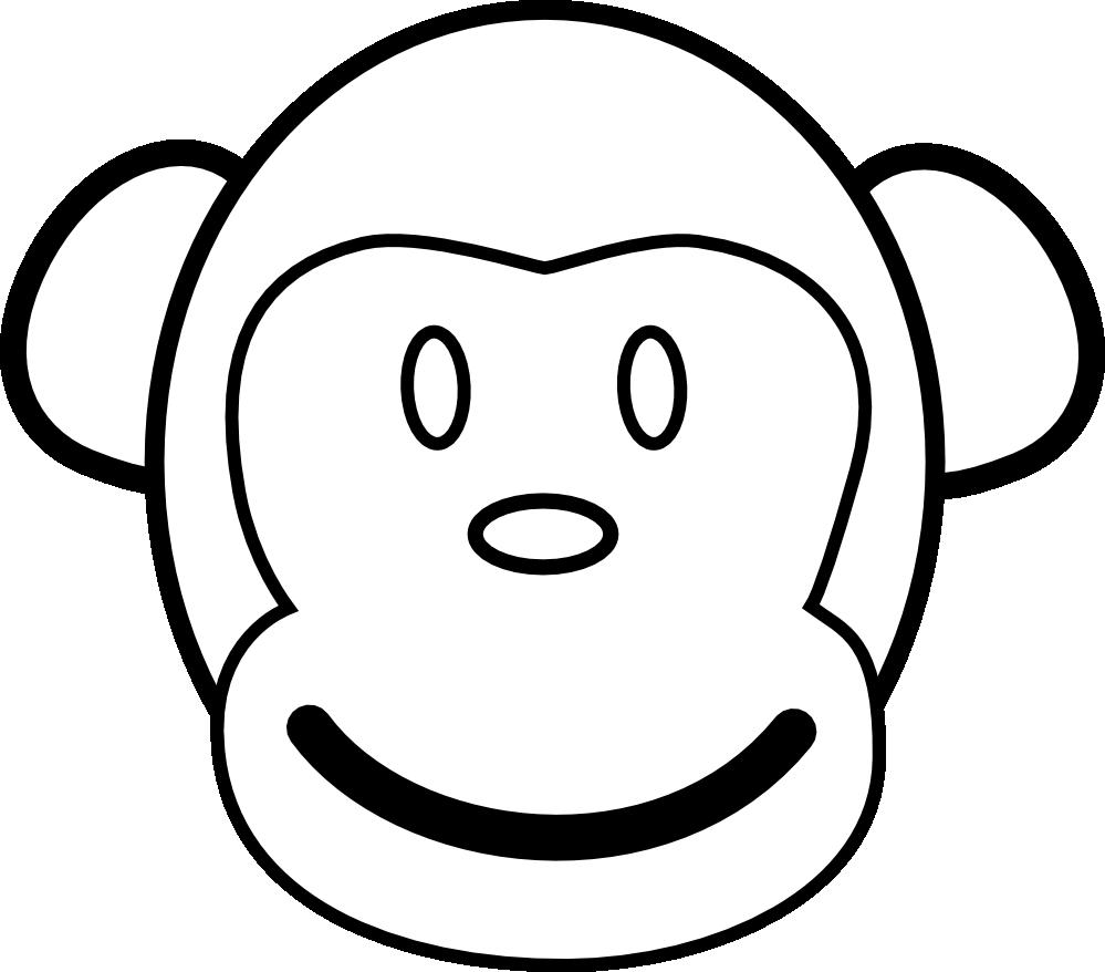 clip art transparent download Black and white monkey clipart. Clipartist net clip art