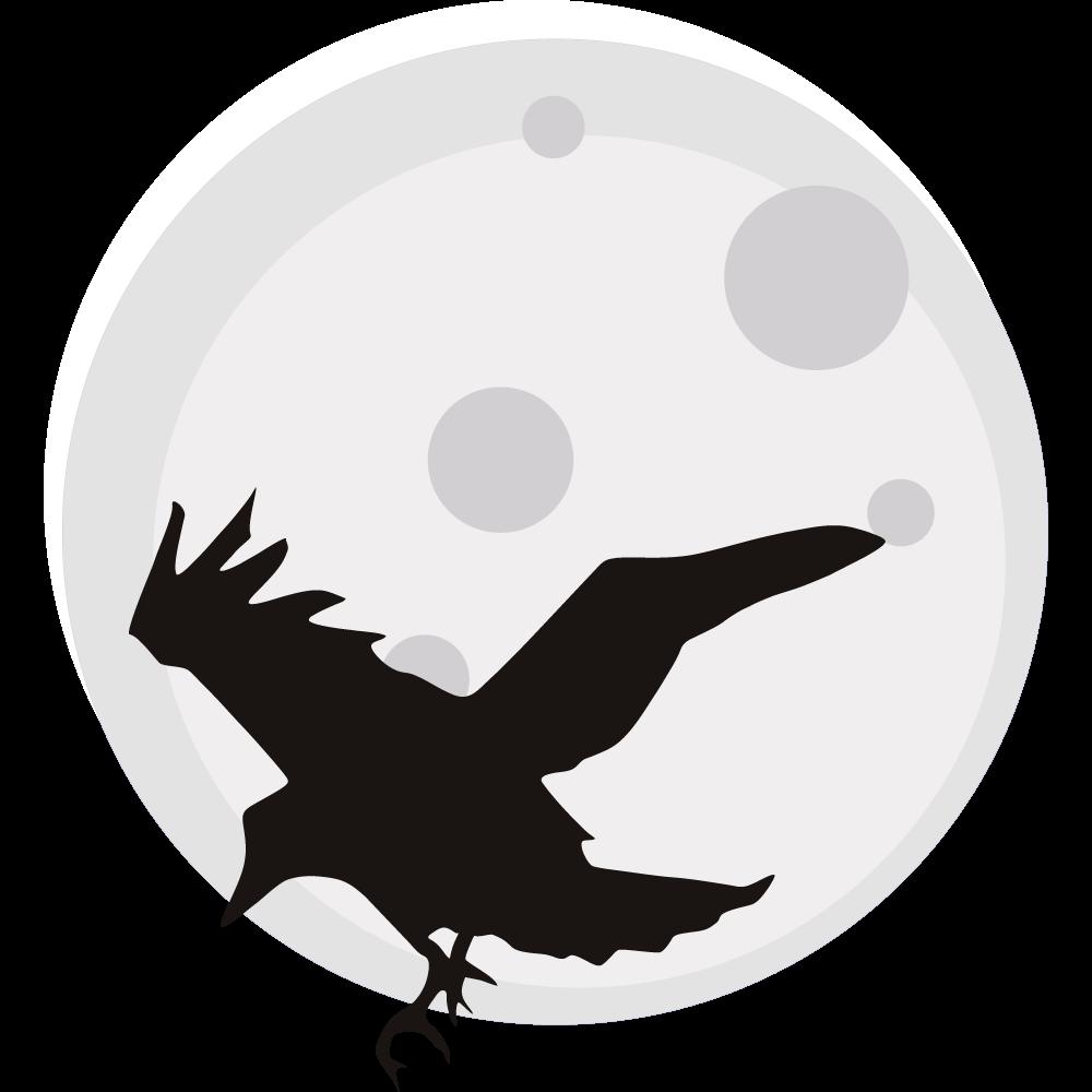 jpg Moon simple pencil and. Crow clipart head