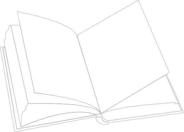 vector transparent download Clip art template library. Black and white open book clipart