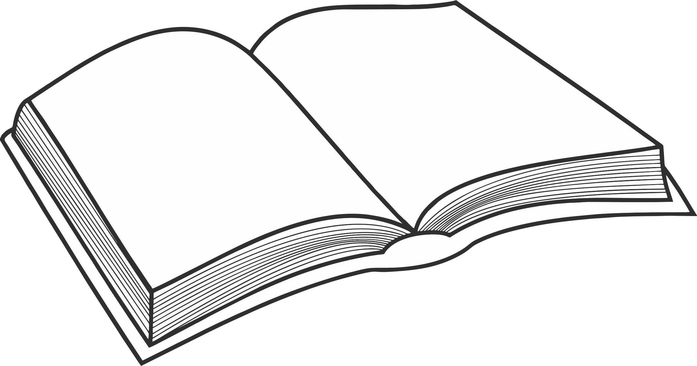 image free library Clip art transprent png. Black and white open book clipart
