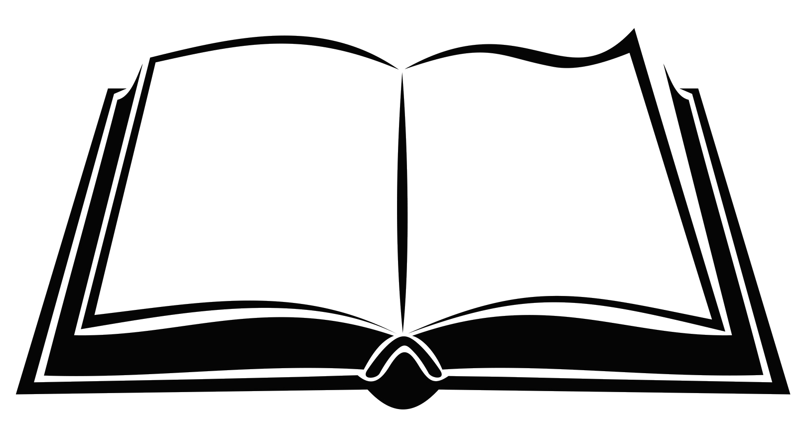 svg black and white stock Black and white open book clipart.  collection of transparent