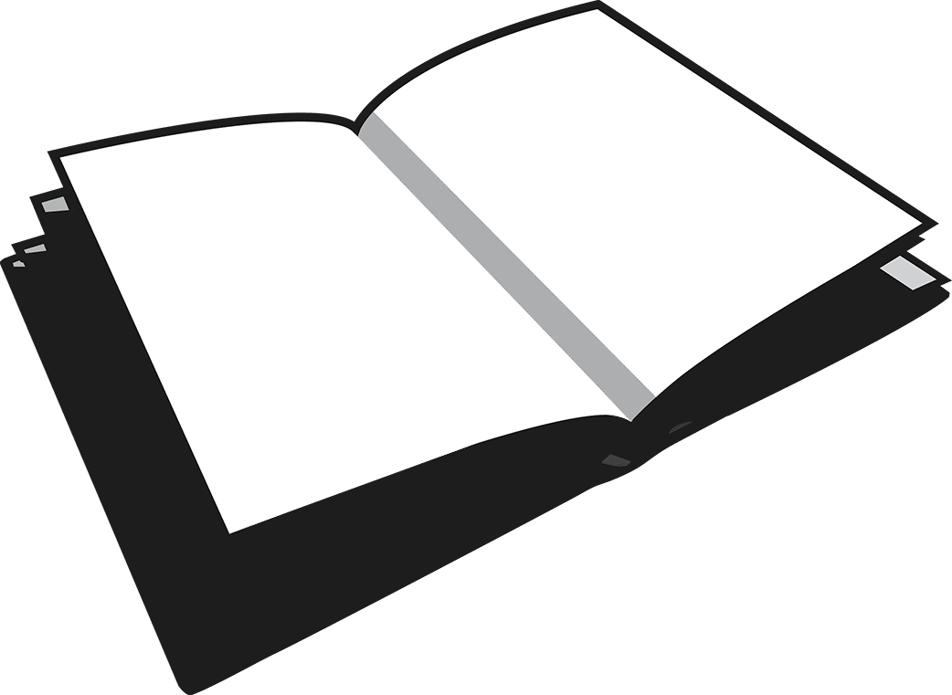 picture transparent stock Alison gerber . Black and white open book clipart