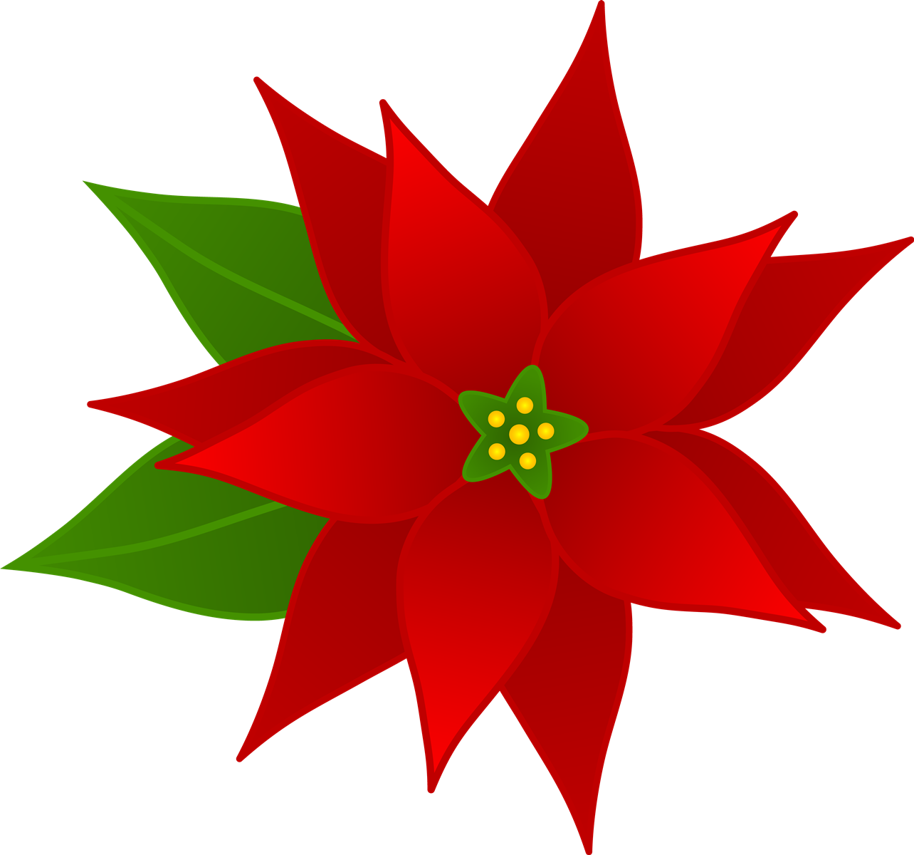 clip art free stock Flowers clip art many. Black and white poinsettia clipart
