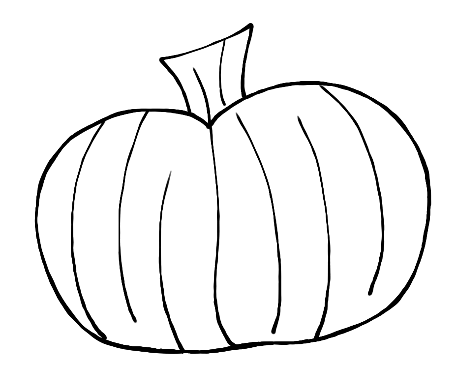 png freeuse download Pumpkin Outline Clipart Black And White