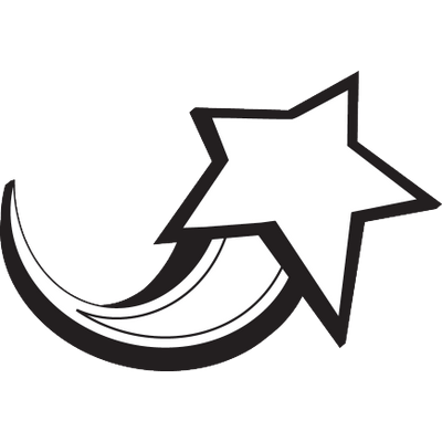 freeuse library Shooting star transparent png. Black and white rainbow clipart