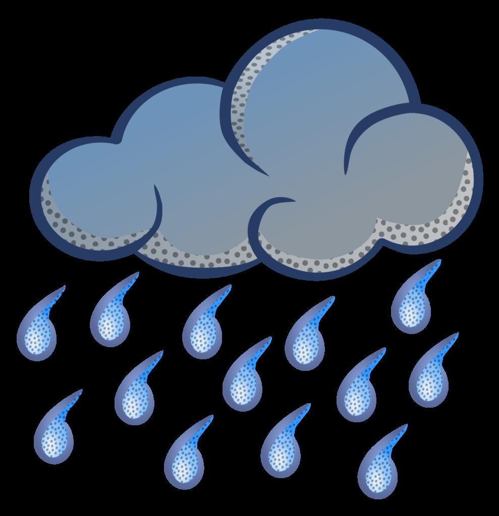 clip art black and white Of rain typegoodies me. Black and white raindrop clipart