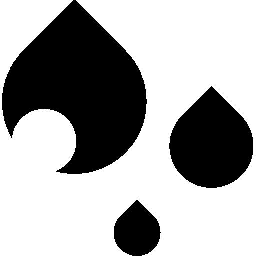 image download Black and white raindrop clipart. Water drop rain drops