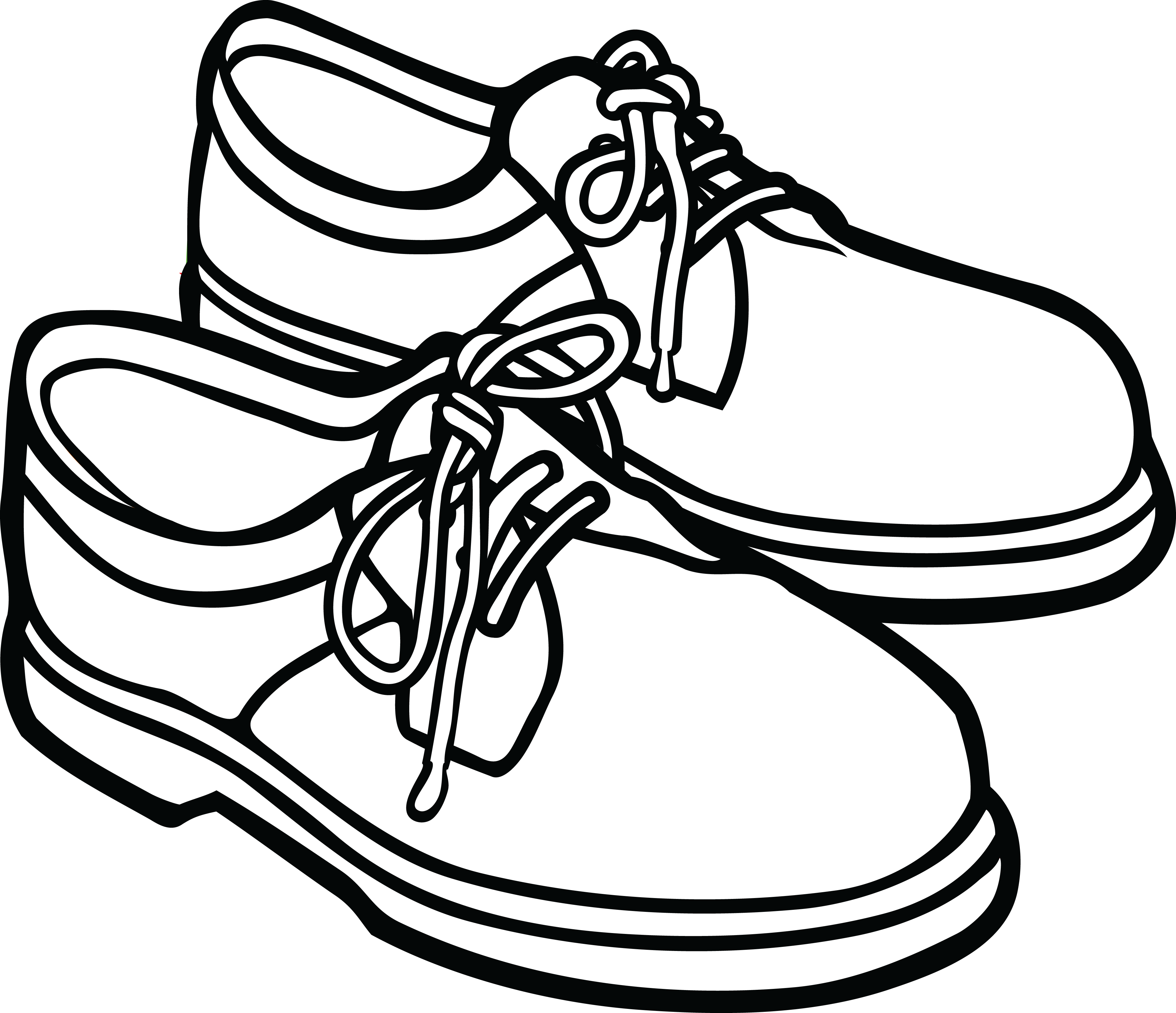 clipart royalty free library black and white shoes clipart #58668987