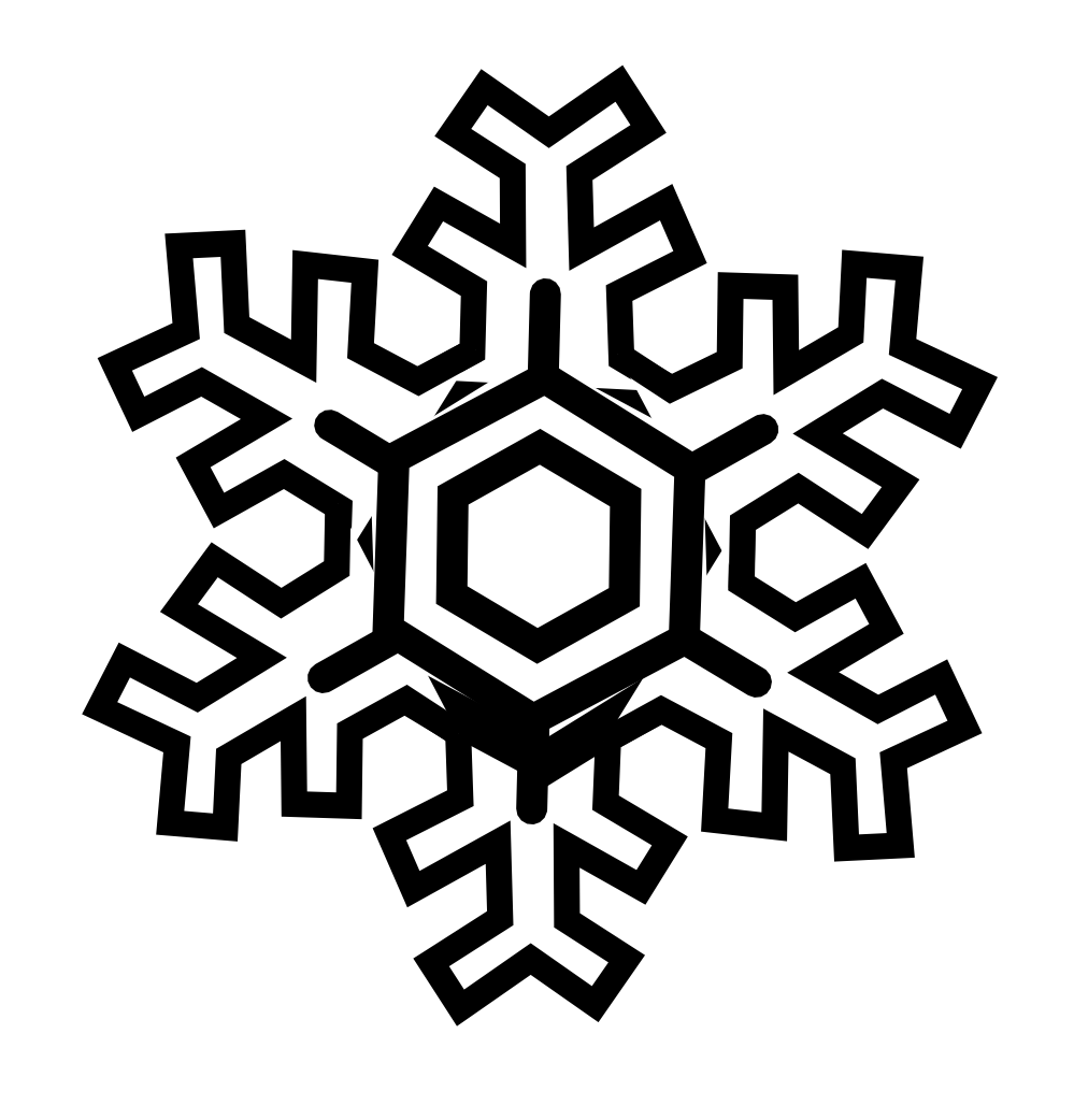 free download Snowflake Clipart Black And White