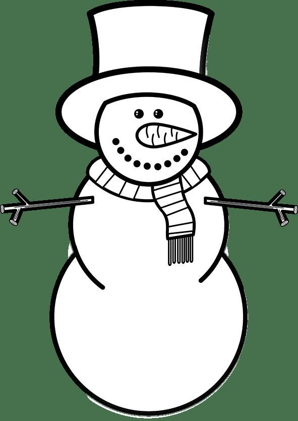 clipart transparent Black and white snowman clipart. Clip art free nastaran