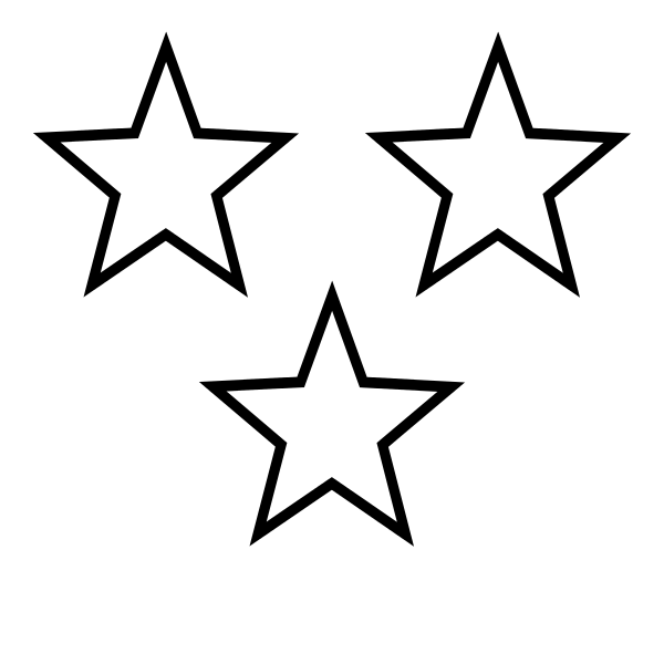 picture library library  svg. Black and white stars clipart