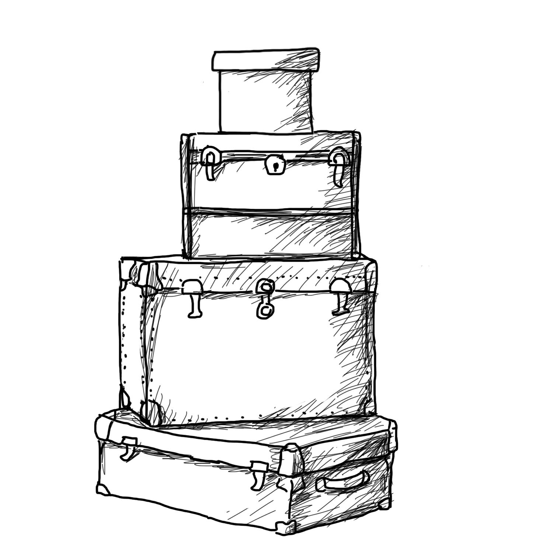 image royalty free download Drawing storage flat. Suitcase at getdrawings com