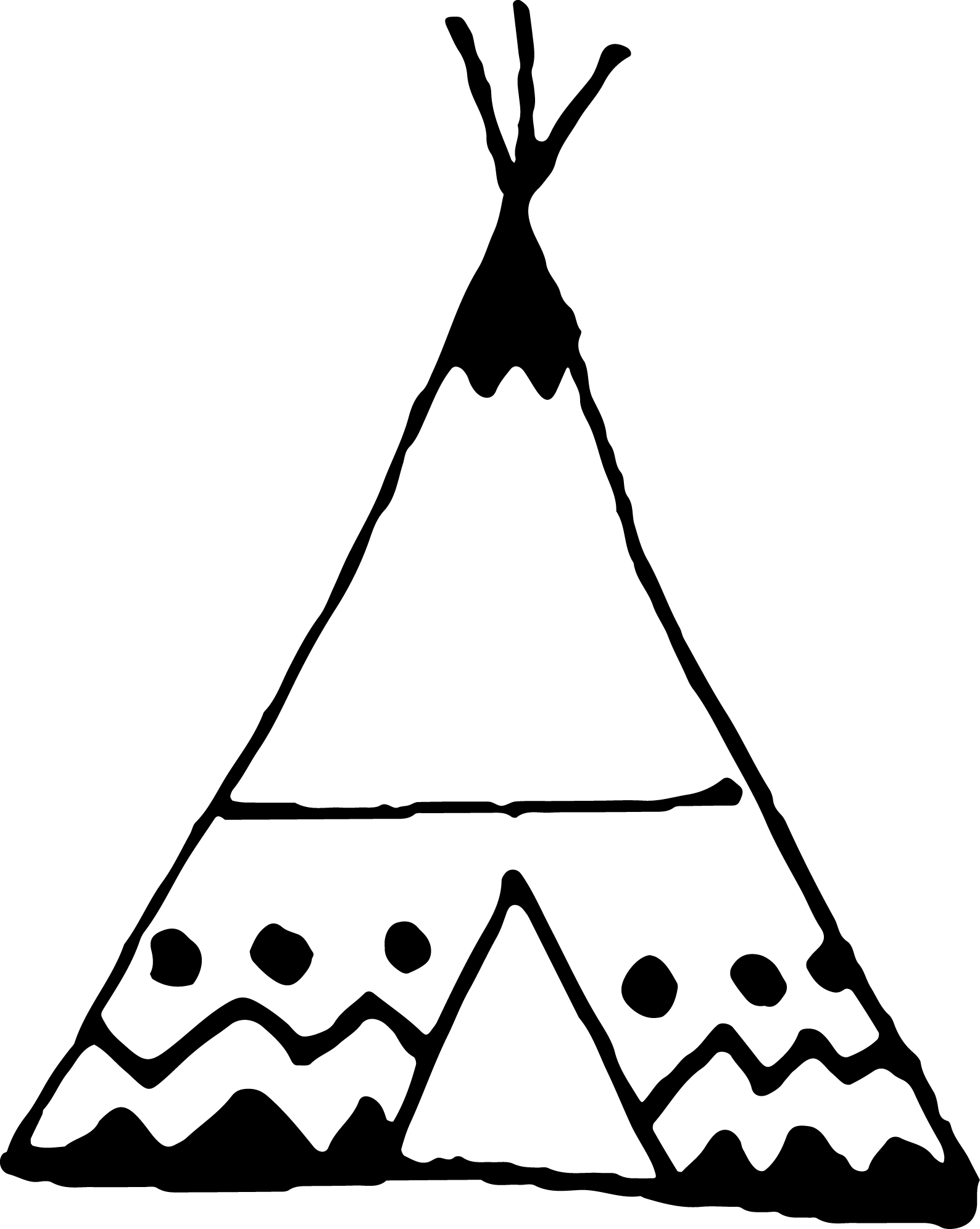 freeuse stock Black and white teepee clipart. Family shoot raleigh nsw
