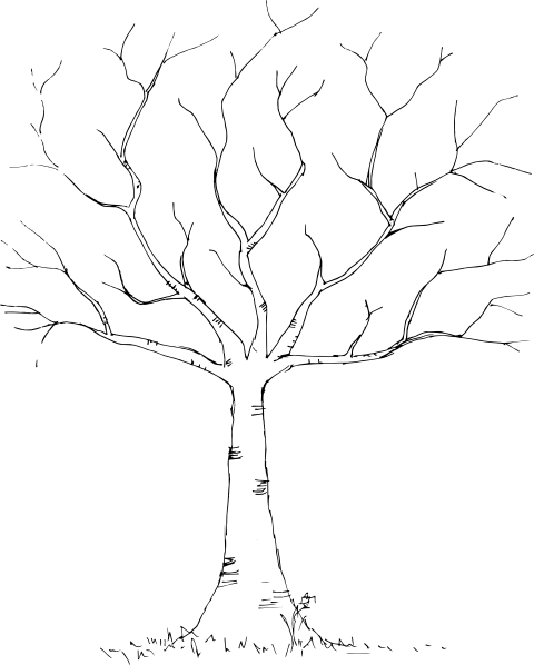 clip art free download Clip art at clker. Black and white tree branch clipart.