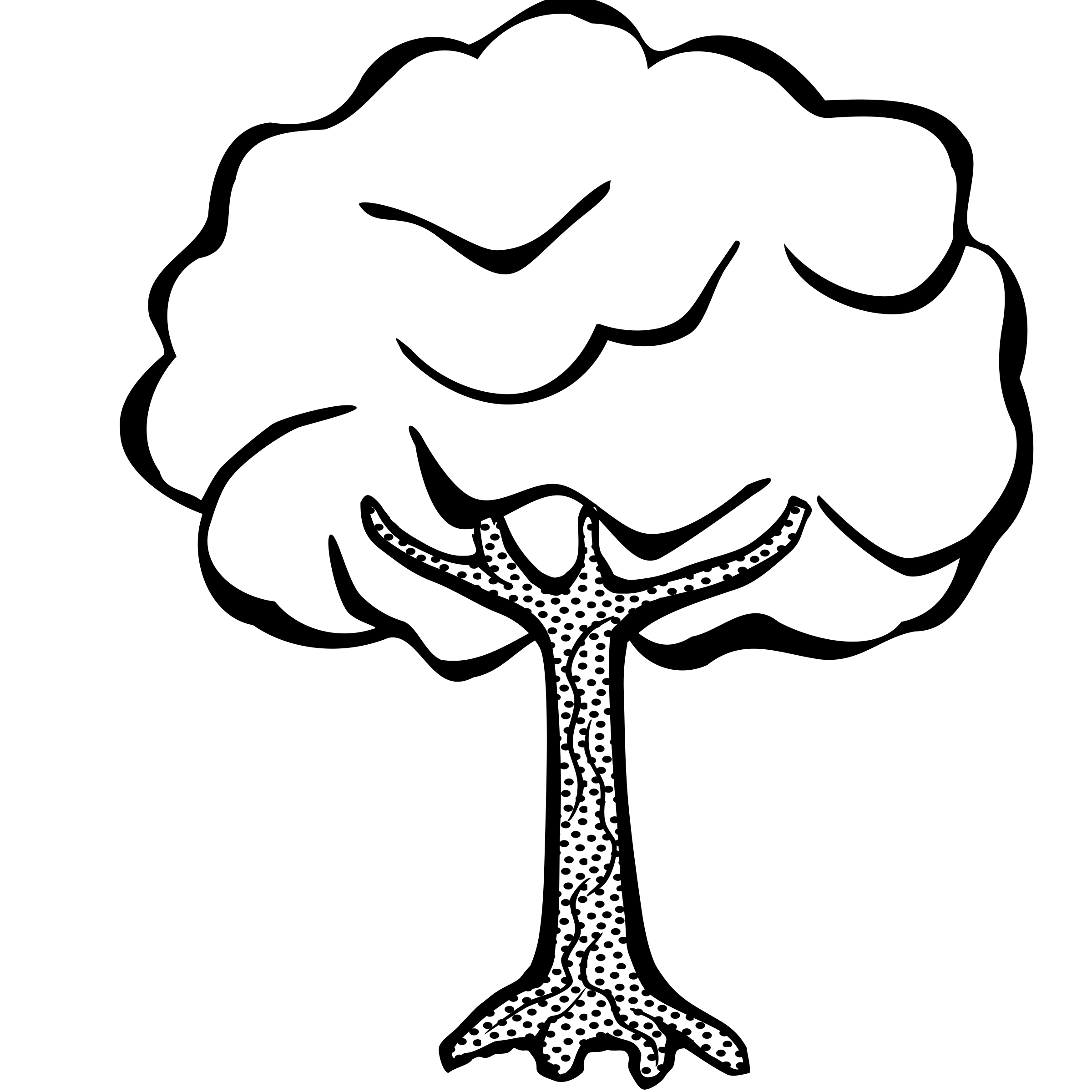 clipart black and white download Clipart trees black and white. Big tree silhouette at