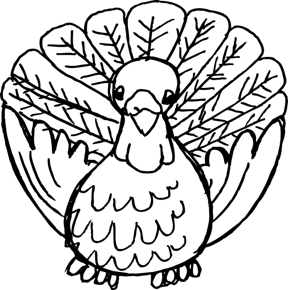 picture royalty free library Turkey Black And White Clip Art at Clker
