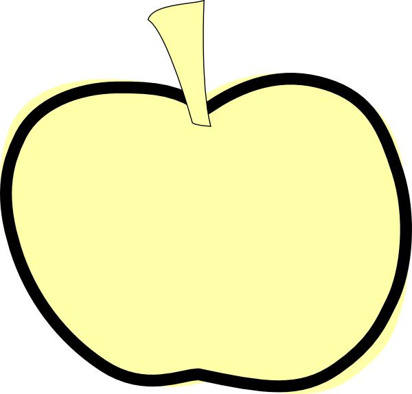 vector royalty free stock Golden apple clip art. Yellow apples clipart.