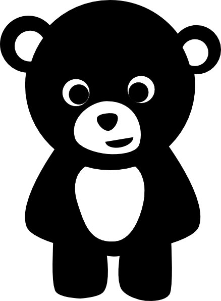 vector library stock Clip art at clker. Black bear clipart