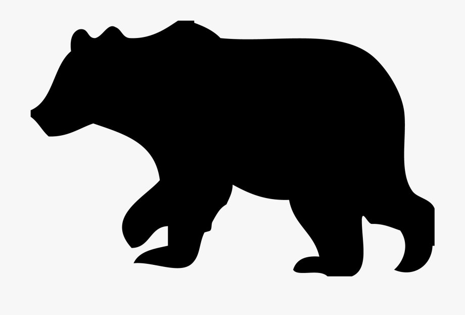 picture library Black bear clipart. Polar american silhouette
