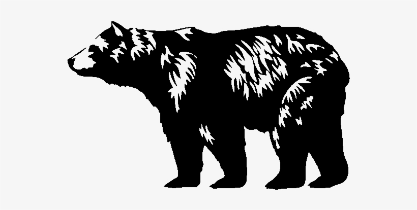 clip transparent library Black bear clipart black and white. Png image