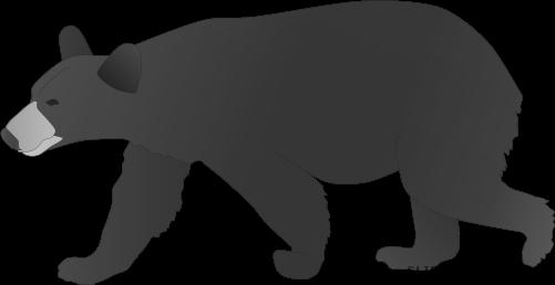clip freeuse stock Clipartblack com animal free. Black bear clipart