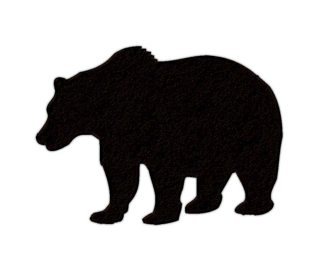 clip royalty free library Black bear cub clipart. Silhouette the best of