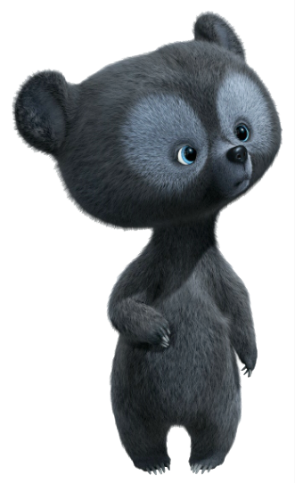 banner transparent library Disney brave clip art. Black bear cub clipart