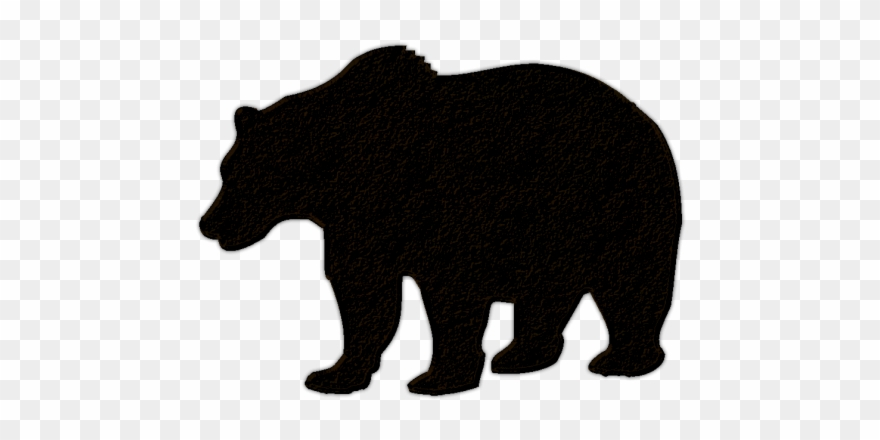 transparent library Colorful silhouette no . Black bear cub clipart