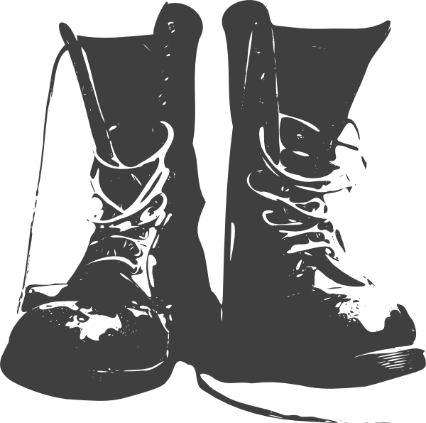 clip black and white stock Black Boots Clip Art at Clker