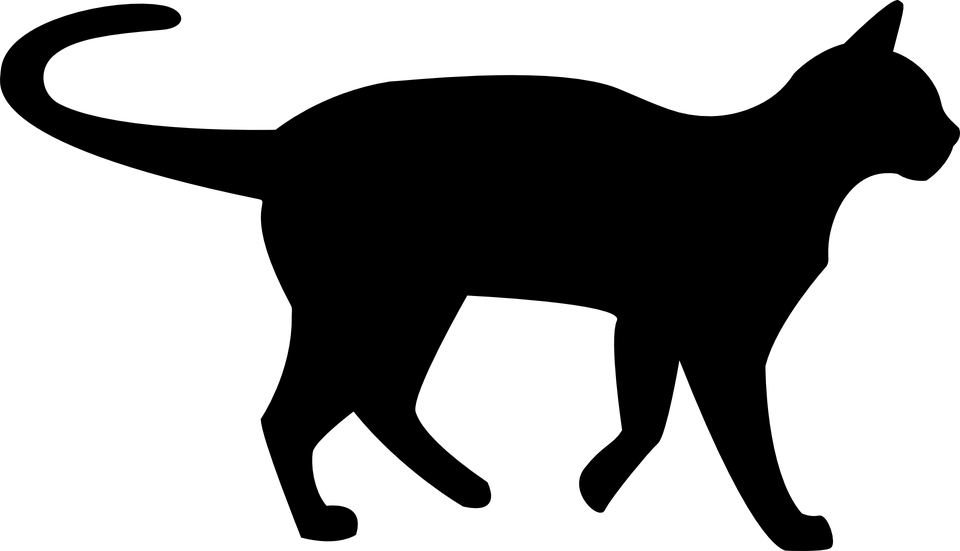 banner download Black clip transparent. Cat silhouette art at