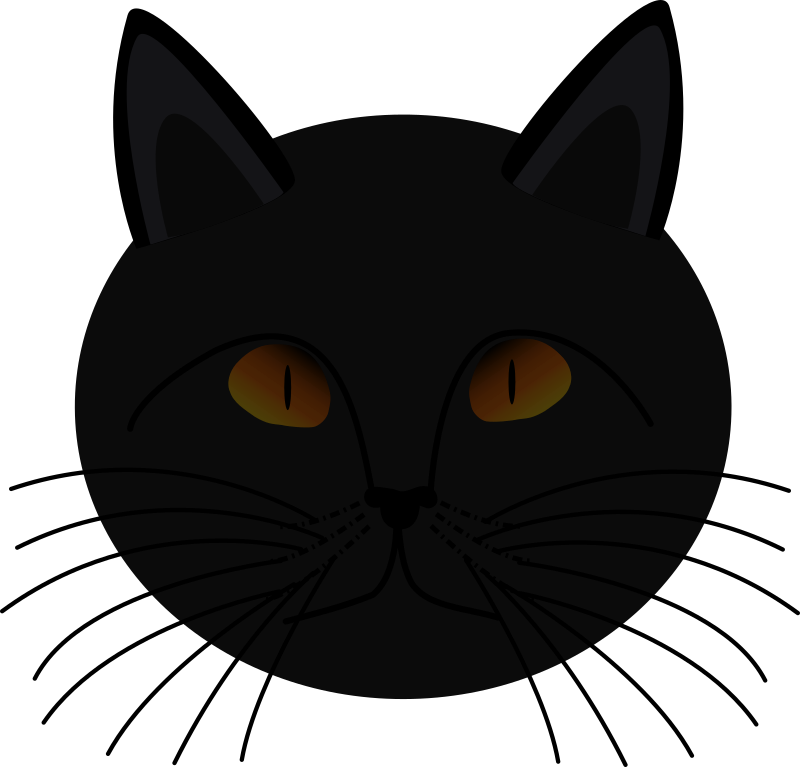 image library stock Medium image png . Black cat face clipart