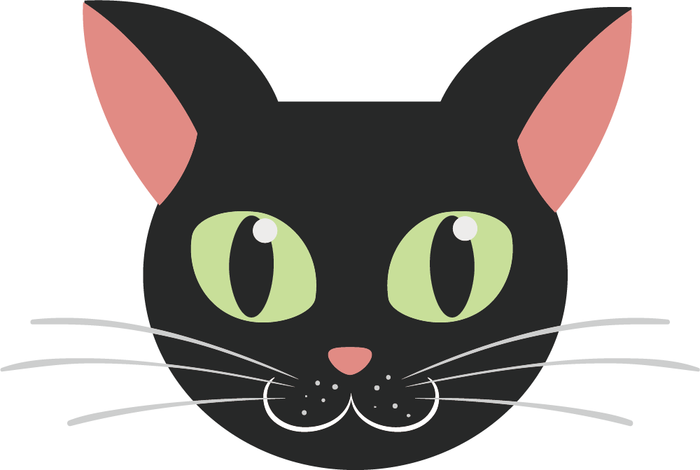 image royalty free download Kitten cartoon transprent png. Black cat face clipart