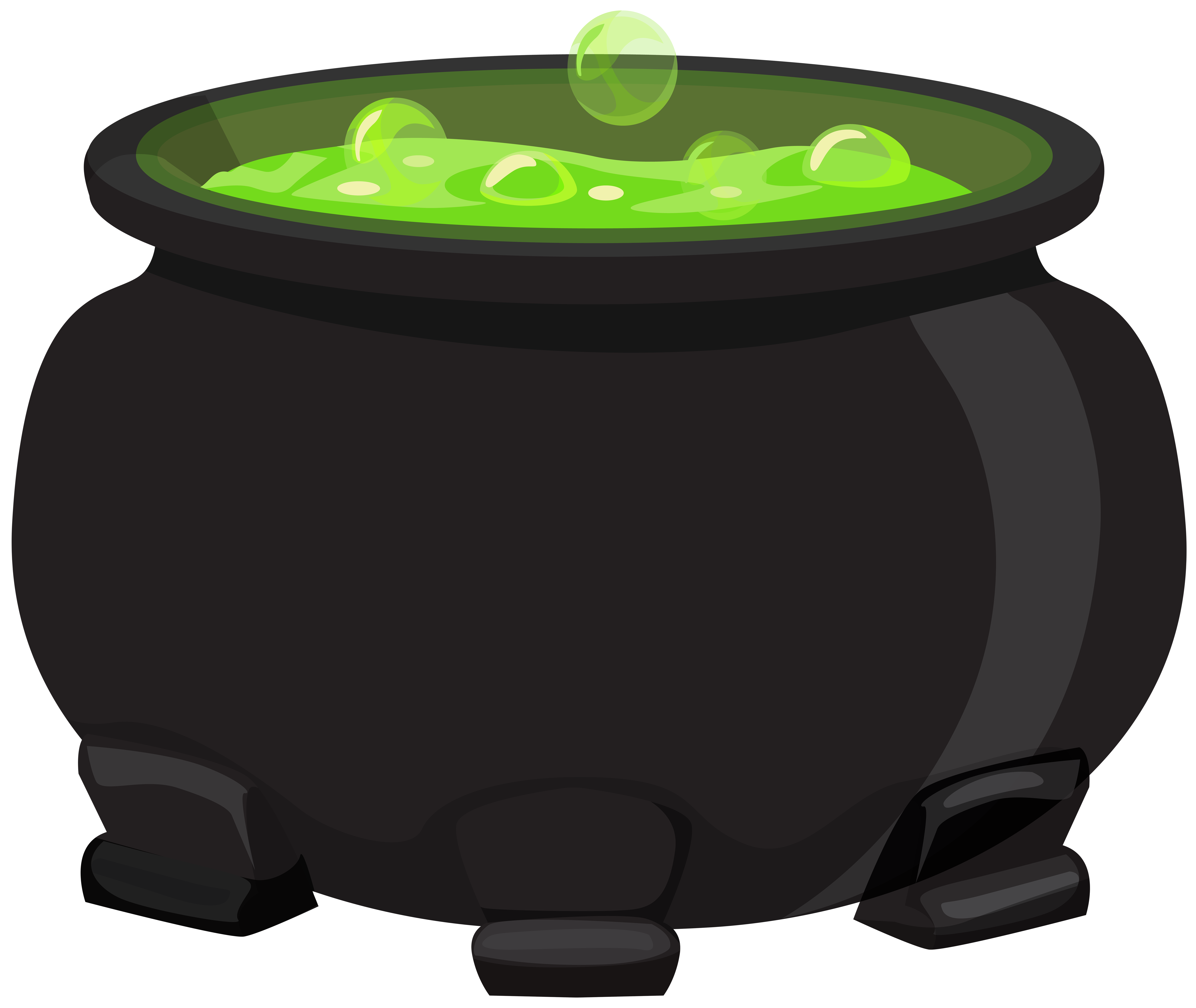 svg black and white Black cauldron clipart. Png gallery yopriceville high.